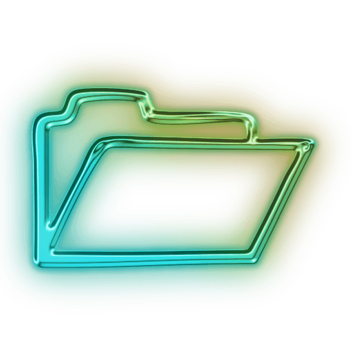 111122-glowing-green-neon-icon-business-folder